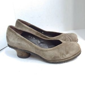Anthro Audley of London suede heels